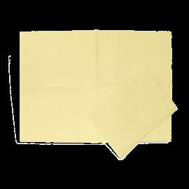 Sachet de 25 lavettes non tissees jaune 80g   ref 050284