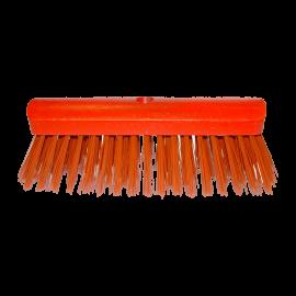 Balai de rue  rouge 100 pourcent pvc bois rond vernis rouge   ref 000522