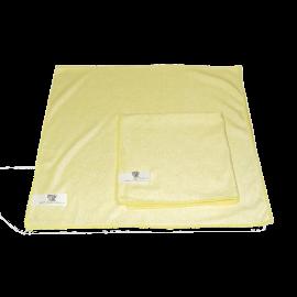 Lavette microfibre 40 x 40 jaune  48 gr   ref 022670 g