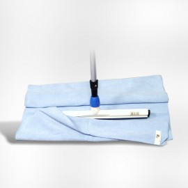 Serpilliere microfibre bleue 60 x 70   ref 022611