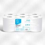 Papier toilette mini jumbo 2 plis blanc lisse pure ouate.colis de 12   ref 401850
