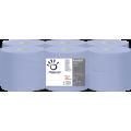 Bobine devidage lateral 2 plis colles bleue. colis de 6   ref 412057