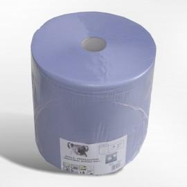 Bobine industrielle 1000 fts  3 plis bleue 38 x 38.colis de 1 .  ref 002851