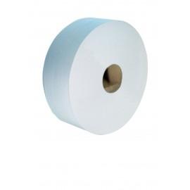 Papier toilette jumbo 2 plis blanc lisse pure ouate.colis de 6.  ref 330656