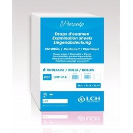 Drap d' examen plastifie  50 x 38   180 formats .carton de 6 rlx  ref drp - 01a