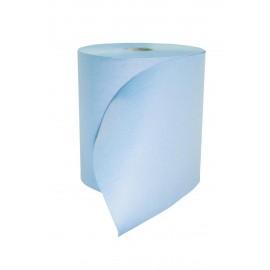 Bobine devidage horizontal 2 plis colles bleue.colis de 6 .ref 01em2000epb