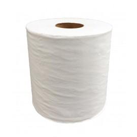 Bobine maxi devidage  central 450 fts 2p blanc pure ouate.colis de 6 ref 530104