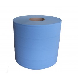 Bobine industrielle 1000 formats bleues 2 plis.colis de 2 . ref 550310