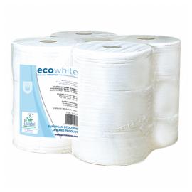 Papier toilette mini jumbo 2p blanc gaufre pure md 75.colis de 12. ref 162.46