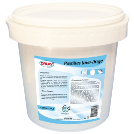 Seau 5kg novelty linge bactericide comprimes  de 40g    ref 102