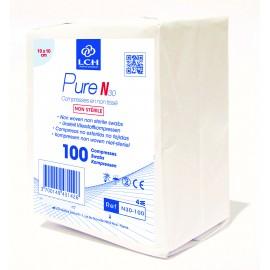 Paquet  de 100 compresses  non steriles  10 x 10 cm   ref n30100