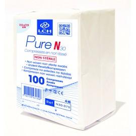 Paquet de 100 compresses  non steriles  7.5 x 7.5  cm   ref n30075