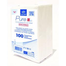 Paquet de 100 compresses  non steriles  5 x 5 cm  30gr  ref n30050