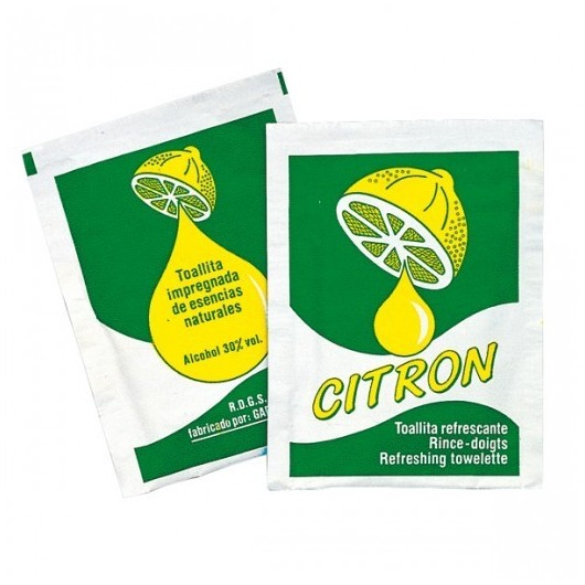Rince-doigts citron . boite de 500   ref 110.75