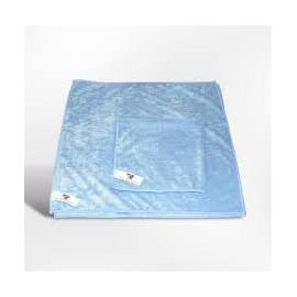 Lavette microfibre 40 x 40 bleue  ref 022609 b