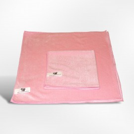 Lavette microfibre 40 x 40 rose