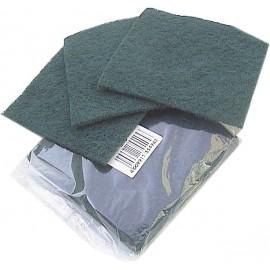 Tampons à recurer vert 15x15 cm .colis de 150    ref 001755r