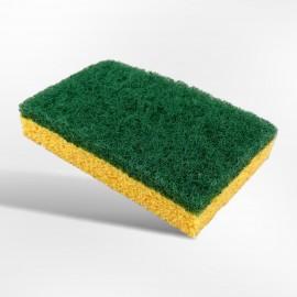 Tampon a recurer vert sur eponge . lot de 2   ref l 5000441