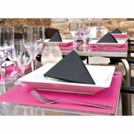 Serviette de table papier luxe 33 x 33 cm noir. pack de 50   ref 101.85