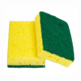 Lot de 12 tampons abrasifs vert sur eponge ref 213.20