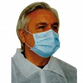 Boite  de 50 masques 3 plis bleu type ii  ref plm-01