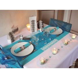 Serviette de table papier luxe 33 x 33 cm turquoise .pack de 50   ref 132.13