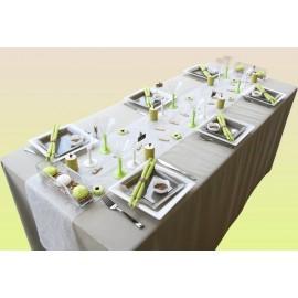 Serviette de table papier luxe 20 x 20 cm vert anis .pack de 100  ref 153.95