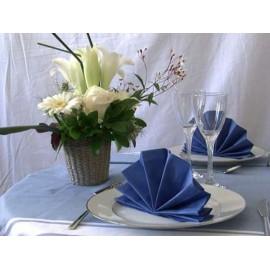 Serviette de table papier luxe 33 x 33 cm bleu marine. pack de 50   ref 138.40