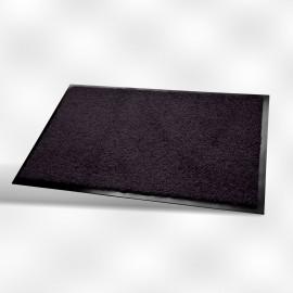Tapis vinyl lavable int/ext 60x90 cm  noir   ref wc0000609