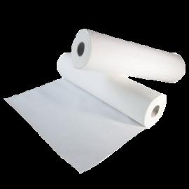 Drap d' examen pure ouate 50 x 38 cm 2 plis  blanc. carton de 12 rlx ref  938532